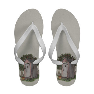 Apple Orchard Outhouse Flip Flops
