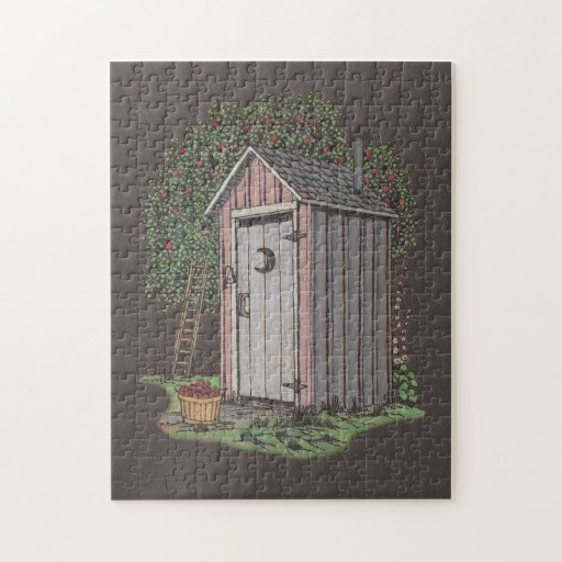 Zazzle Apple Orchard Outhouse Jigsaw Puzzle