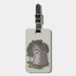 Apple Orchard Outhouse Luggage Tag