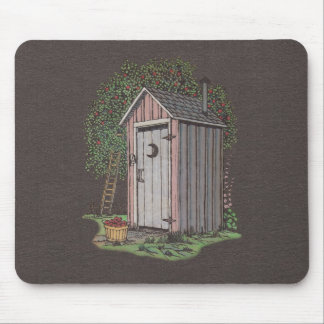 Apple Orchard Outhouse Mouse Pad