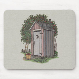 Apple Orchard Outhouse Mousepads