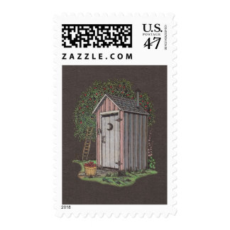 Apple Orchard Outhouse Postage