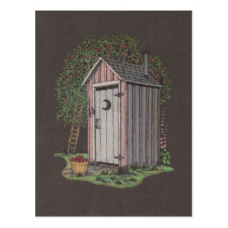 Apple Orchard Outhouse Postcard