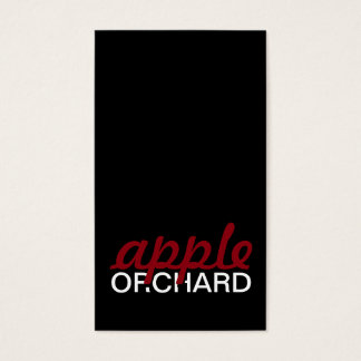 apple orchard punch card