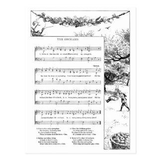 Apple Orchard Song Postcard
