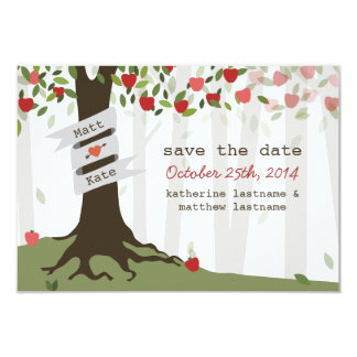 Apple Orchard Wedding Fall Autumn Save The Date 3.5x5 Paper Invitation Card