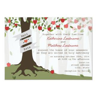 "Apple Orchard Wedding Invitation 5"" X 7"" Invitation Card"