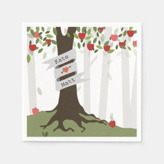 Apple Orchard Wedding Napkins Paper Napkin