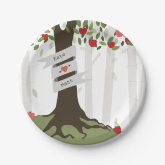 Apple Orchard Wedding Paper Plate