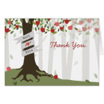 Apple Orchard Wedding Thank You Card