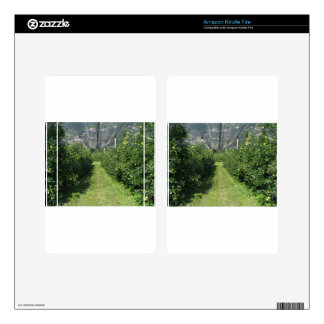 Apple orchard with protection nets skins for kindle fire