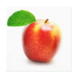 Apple painting Wrapped Canvas