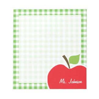 Apple para el profesor A cuadros verde Guinga Bloc