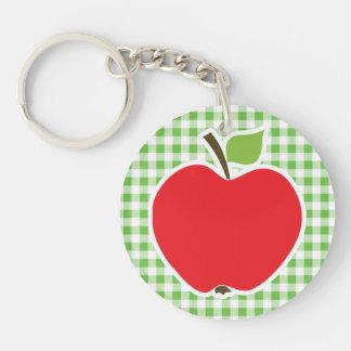 Apple para el profesor A cuadros verde Guinga Llavero