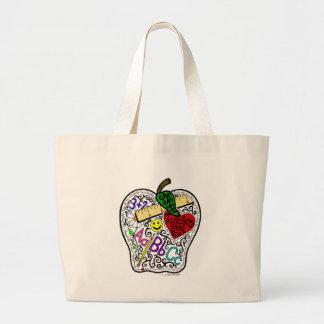 Apple para el profesor bolsa tela grande