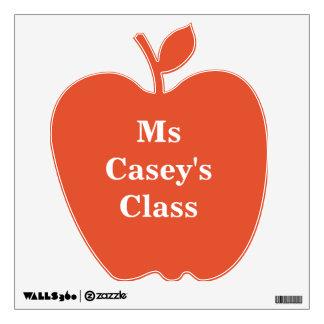 Apple para el profesor empareda o la etiqueta de vinilo decorativo