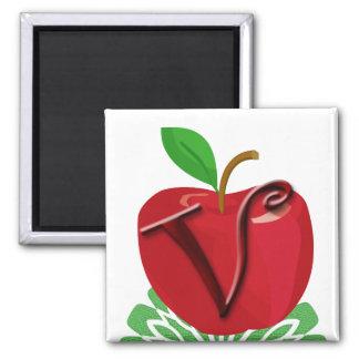 Apple para el profesor iman de frigorífico