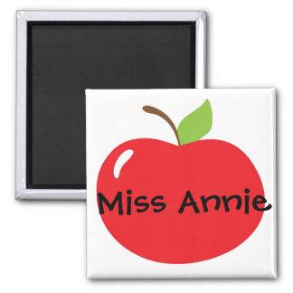 Apple para el profesor imán cuadrado