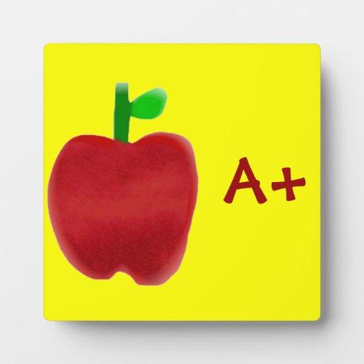 Apple para el profesor placas de madera