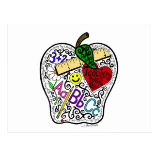 Apple para el profesor postales