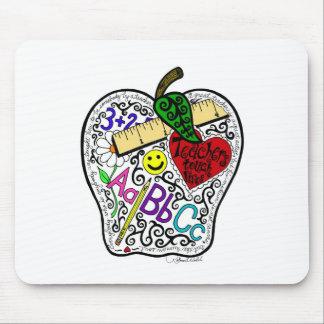 Apple para el profesor tapetes de ratones
