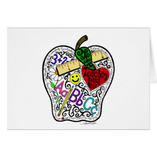 Apple para el profesor tarjeta de felicitación