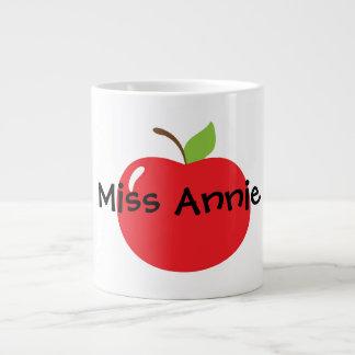 Apple para el profesor taza de café grande