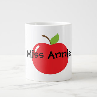 Apple para el profesor taza grande