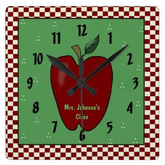Apple para el reloj de pared del profesor