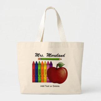 Apple para el tote del profesor por SRF Bolsa Tela Grande
