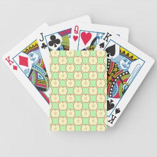 Apple pattern. bicycle card deck