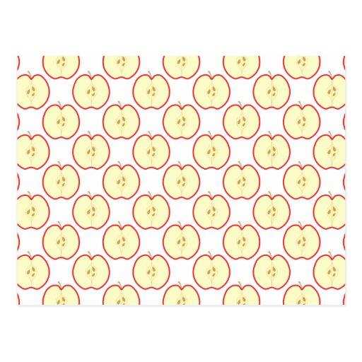 Apple pattern. postcards