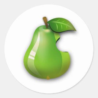 Apple Pear Classic Round Sticker