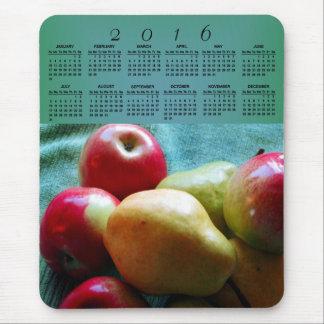 Apple Pear Delight 2016 Calendar Mouse Pad