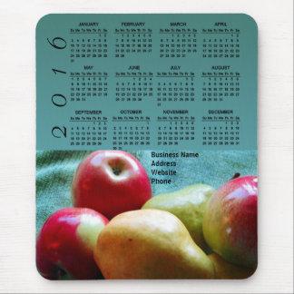 Apple Pear Delight Business Promo 2016 Calendar Mouse Pad