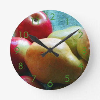 Apple Pear Delight Wall Clock