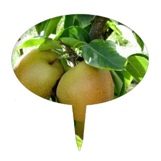 Apple pear on tree branches cake topper