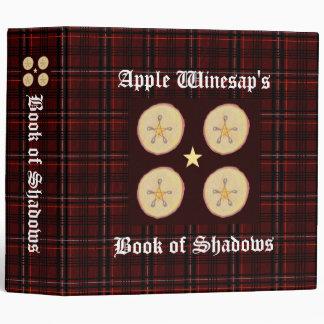 Apple Pentacles Lg. Spellbook BOS Book of Shadows Binder
