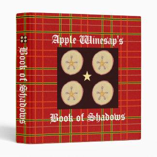 Apple Pentacles Sm. Spellbook BOS Book of Shadows Vinyl Binders