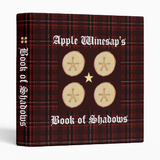 Apple Pentacles Sm. Spellbook BOS Book of Shadows Binders