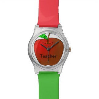 Apple personalizado para el reloj rojo del verde d
