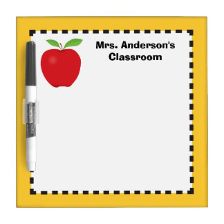Apple personalized for teachers dry erase board
