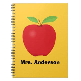 Apple personalizó con el cuaderno del nombre del