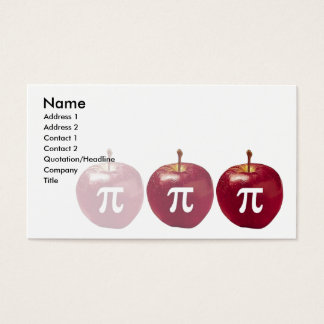 apple pi business card