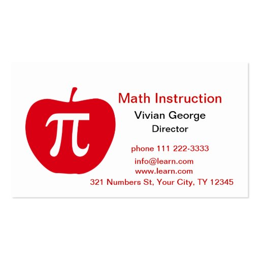 Apple Pi Business Card Templates