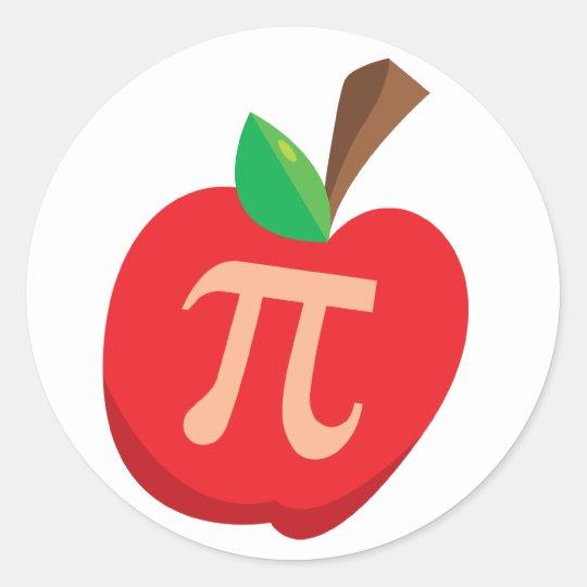 Apple Pi Classic Round Sticker