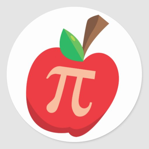 Apple pi pegatina redonda