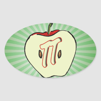 Apple Pi (Pie) Oval Sticker