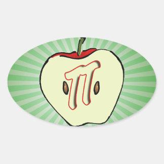 Apple Pi (Pie) Oval Sticker