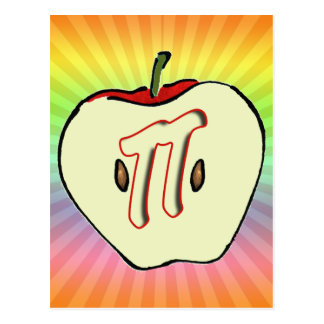 Apple Pi (Pie) Postcard